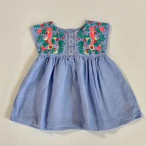 Baby GAP Baby Girl Blue Parrot Dress